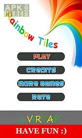 rainbow tiles - dont step on the white tile