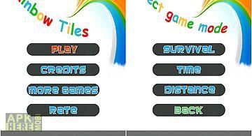 Rainbow tiles - dont step on the..