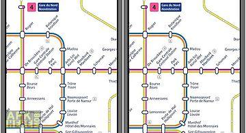 Brussels metro map