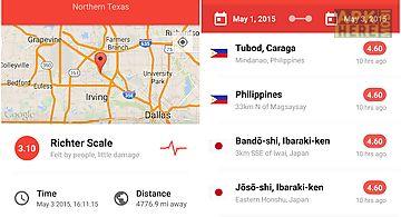 My earthquake alerts