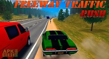 Freeway traffic rush