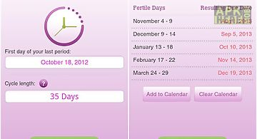 Ovulation calendar & fertility