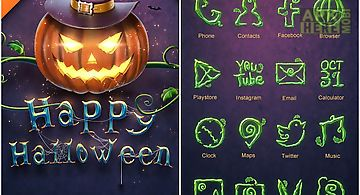 Pumpkin ghost go launcher