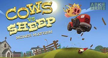 Cows vs sheep: mower mayhem