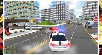 Crazy traffic police racer