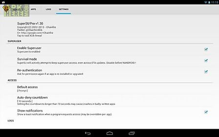 Supersu pro complete set for Android free download at Apk Here store