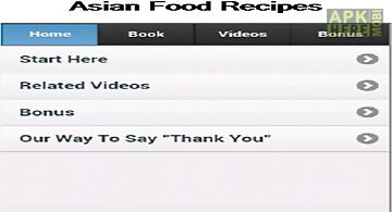 Asian food recipes app