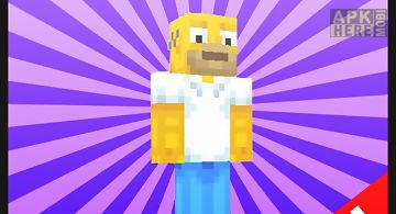 New the simpson mod for mcpe