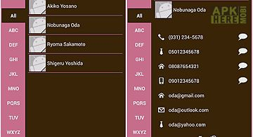 Phone book contacts (pink)