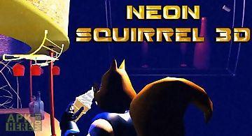 Neon squirrel 3d