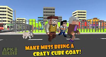 Cube city: blockhead goat 3d