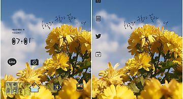 Sky cloud flower dodol theme