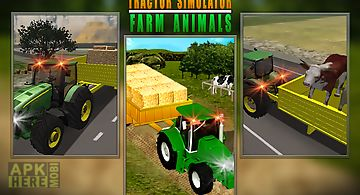 Tractor simulator farm animals