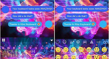 Luminous emoji ikeyboard theme