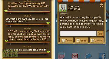 Go sms pro garden free theme