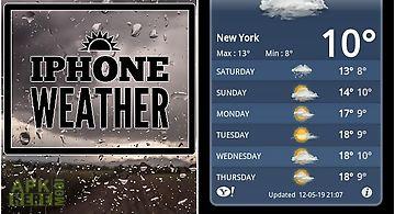 Iphone weather