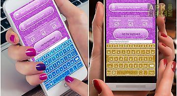 Glitter keyboard customizer