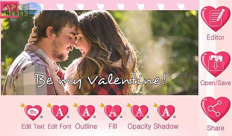 valentine text on pics