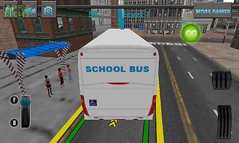 3d school bus driving