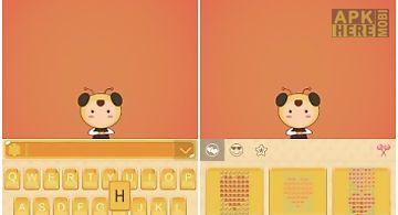 Honey theme for emoji keyboard