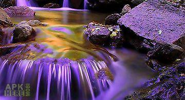 Purple waterfall wallpaper