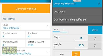 Jucy workout gym & fitness log