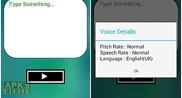 Voice - text to speech