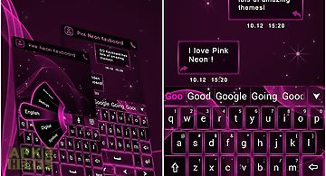 Go keyboard pink neon theme