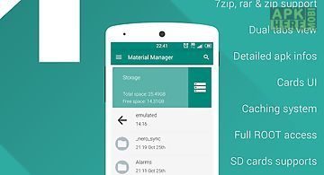 Material manager