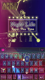 nightlife kika keyboard theme