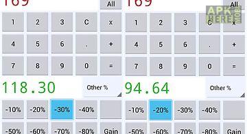 Sales price calculator off