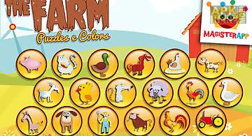The farm - puzzles kids games