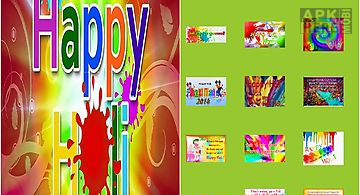 Happy holi greeting cards and wa..