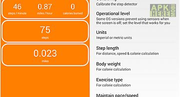 Pedometer step count calories