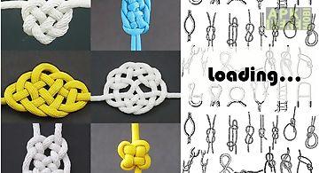 Macrame knots tying nylon cord