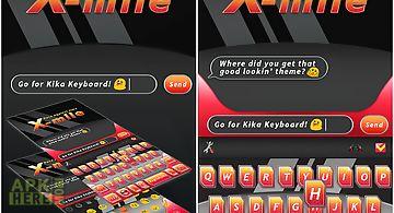 X-mile theme for kika keyboard