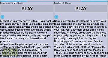Meditation audio