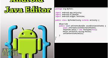 Android java editor