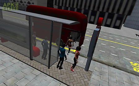 london city bus driving 3d