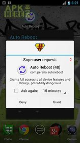 Auto reboot (root only) for Android free download at Apk