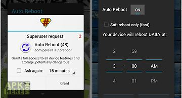 Auto reboot (root only)