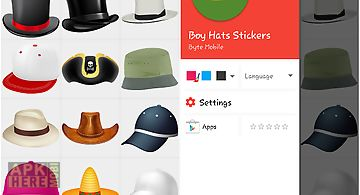 Boy hats stickers