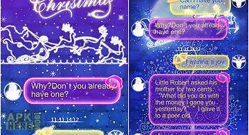 Go sms merry christmas theme