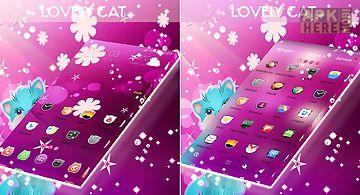 Lovely cat theme go launcher