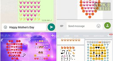 Love art - emoji keyboard