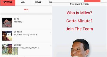 Miles a minute