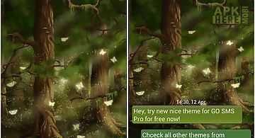 Go sms pro theme forest for Android free download at Apk Here store