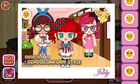 fashion judy: school uniform