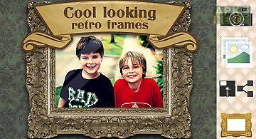 Vintage photo frames old pics