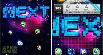 Next pixels 3d theme